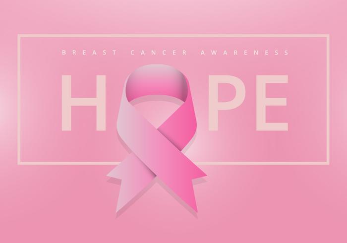 Campagne de sensibilisation au cancer du sein avec ruban rose vecteur