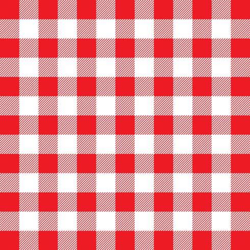 Motif vichy rouge et blanc vecteur