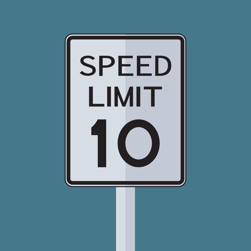 USA route trafic transport signe limite de vitesse 10 vecteur