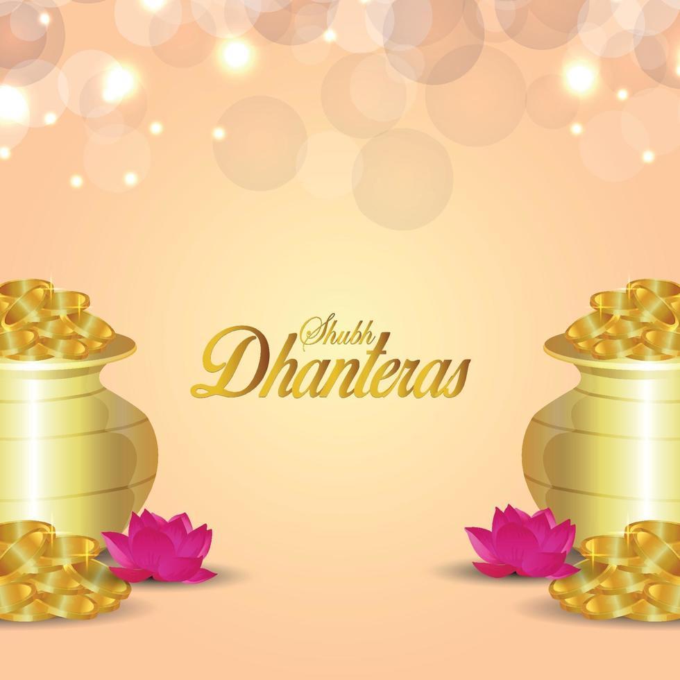 illustration vectorielle de shubh dhanteras vecteur