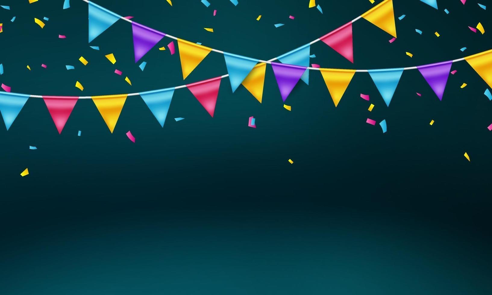 drapeau coloré concept design modèle jour férié heureux, illustration vectorielle de fond célébration. vecteur
