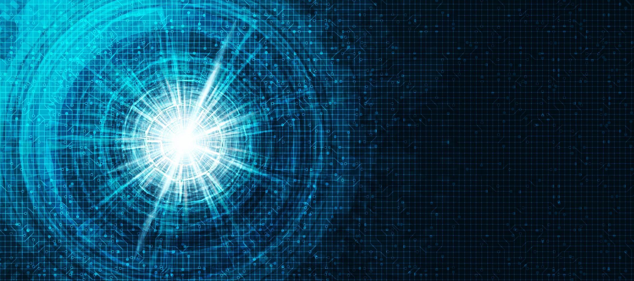 cercle tech sur fond de technologie vecteur