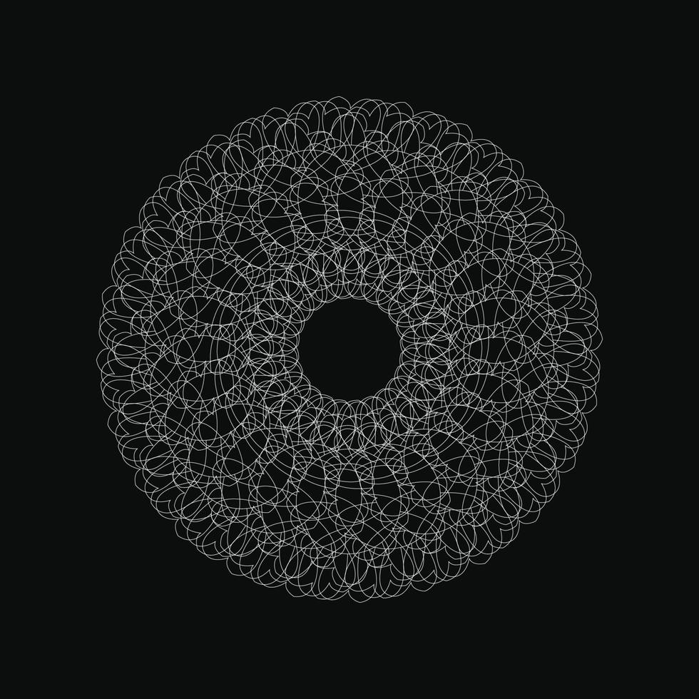 Webcircle ornement géométrique vecteur graphique couleur blanche