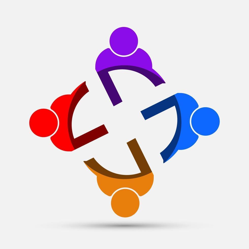 logo de personnes de salle de réunion vecteur