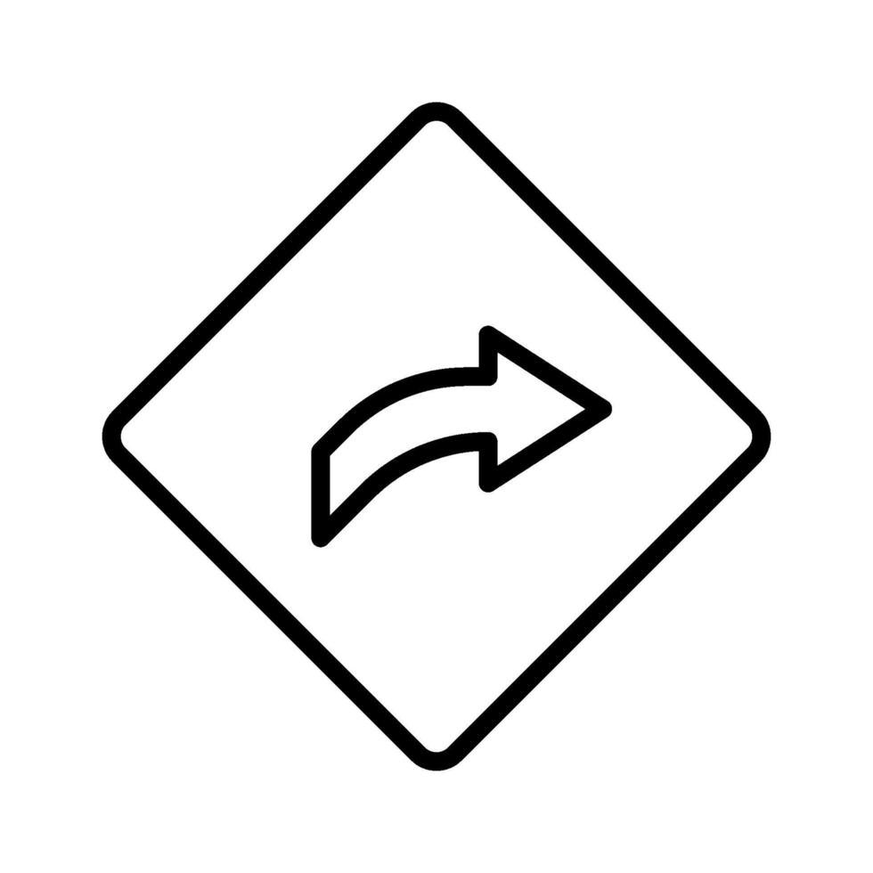 icône de direction droite vecteur