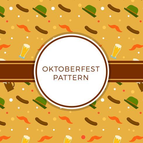 Vecteur de modèle d'élément plat Oktoberfest