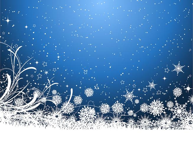Fond flocon de neige vecteur