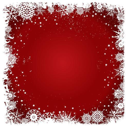 Fond de flocons de neige de Noël grunge vecteur