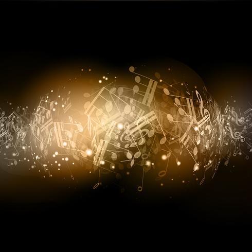 Notes de musique abstraites vecteur