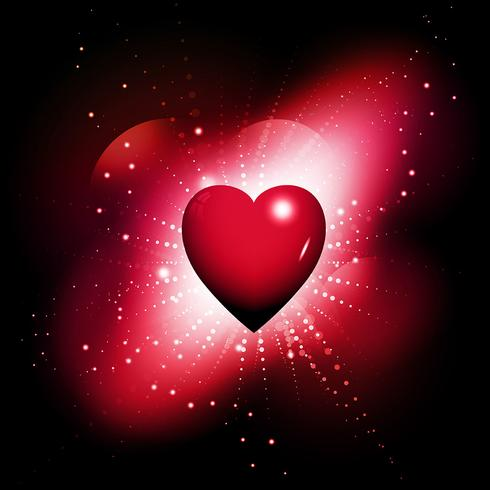 Fond coeur brillant vecteur