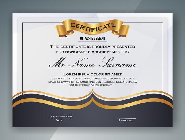 Conception de modèle de certificat professionnel polyvalent. Vecteur il