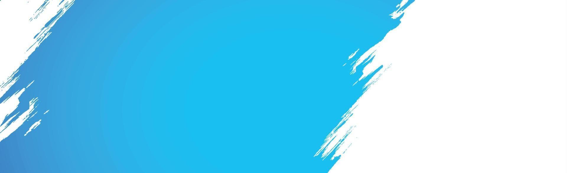 frottis réaliste de peinture bleue sur fond blanc - vecteur