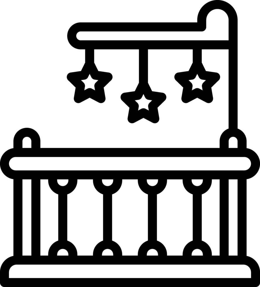 icône de ligne pour berceau vecteur