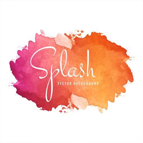 Abstrait coloré aquarelle splash vecteur