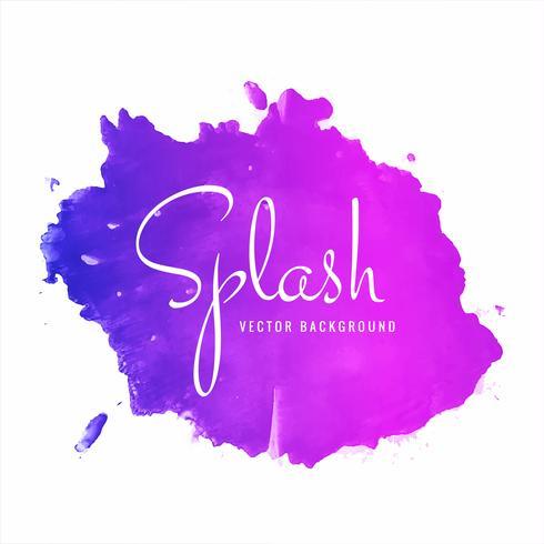 Fond splash aquarelle coloré dessiné main belle vecteur