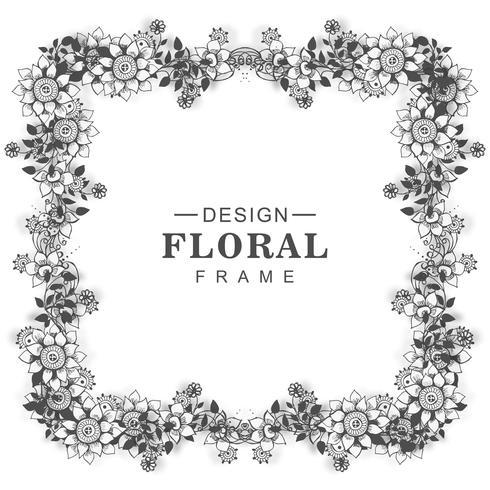 Fond de cadre floral beau mariage vecteur
