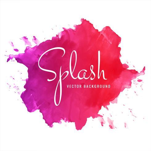 Fond abstrait splash aquarelle douce colorée à la main abstraite vecteur