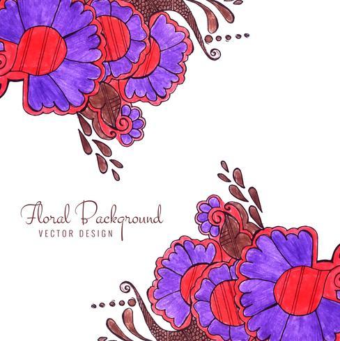 Abstrait coloré floral décoratif de mariage fond floral vecteur