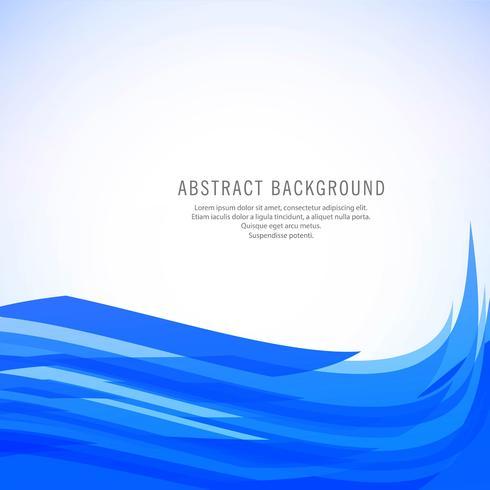 Design de vague élégant beau business bleu vecteur