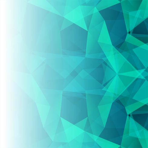 Fond de beau polygone bleu vecteur