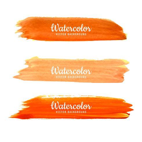 Ensemble de coups de pinceau aquarelle coloré vecteur