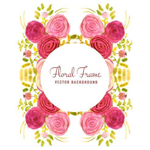 Fond floral aquarelle coloré mariage abstrait vecteur