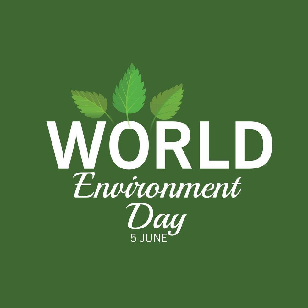 illustration vectorielle pour la journée mondiale de l'environnement. vecteur