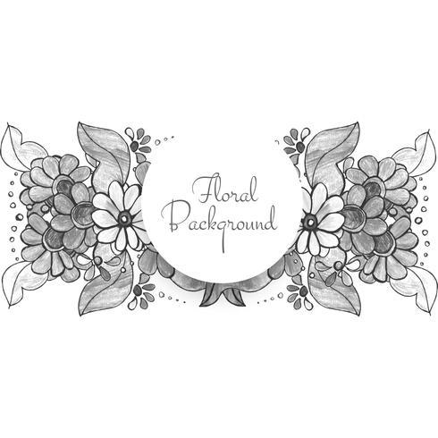 Beau design floral de mariage décoratif vecteur
