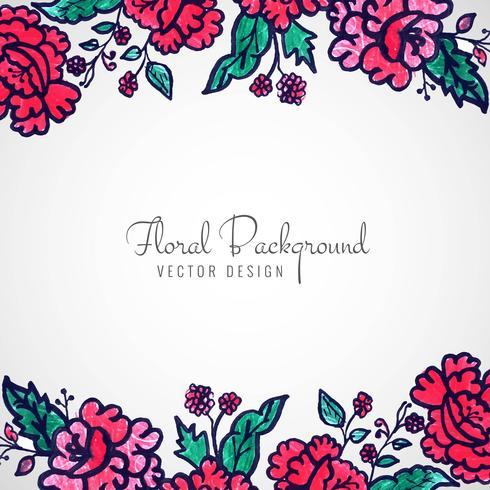 Abstrait décoratif mariage floral fond coloré vecteur