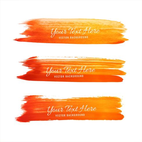 Design de nuance orange dessiné main aquarelle vecteur