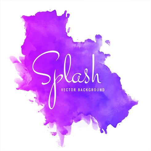 Fond de vecteur splash aquarelle douce colorée dessinés à la main