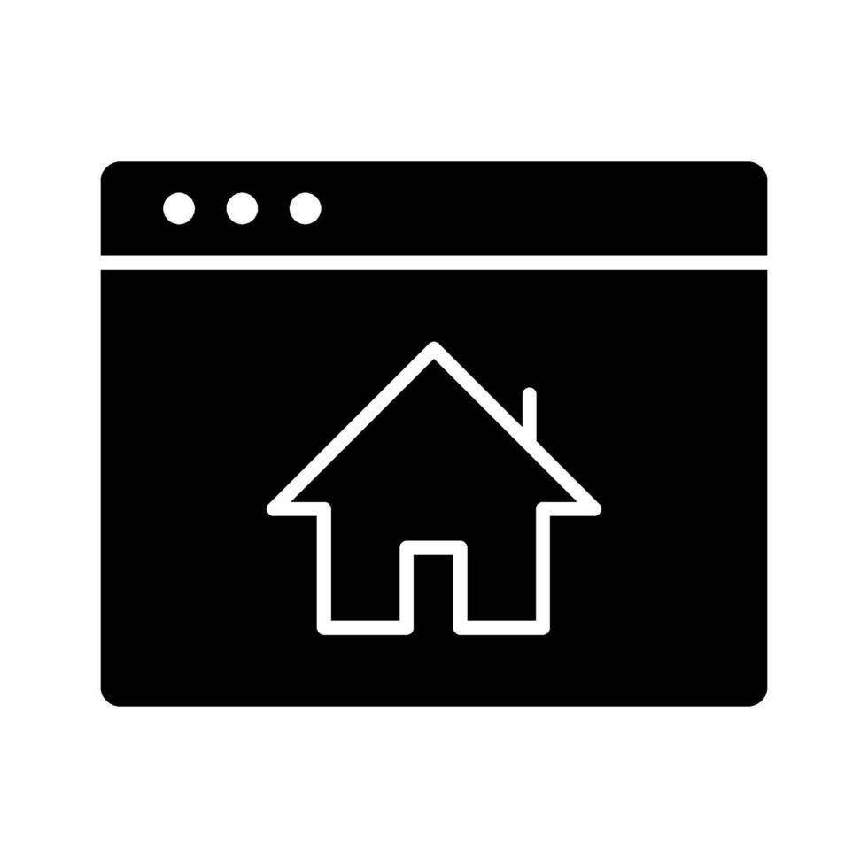 icône de vecteur de page d'accueil