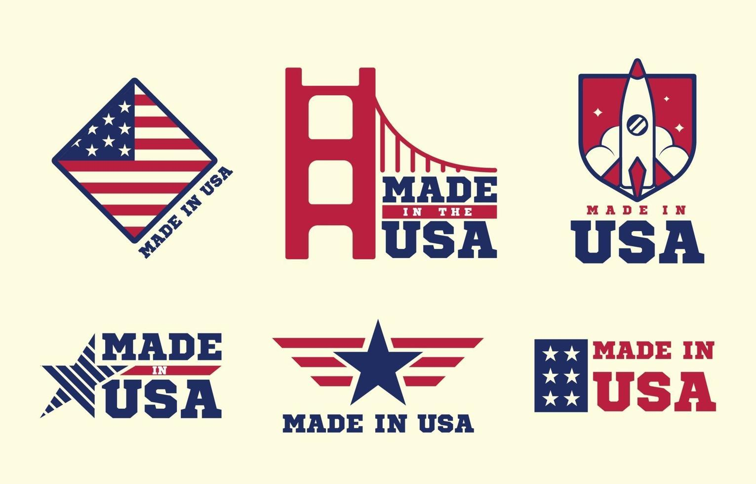 badges made in usa vecteur