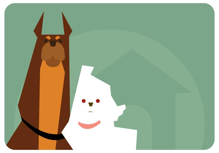 Couple de chien vecteur