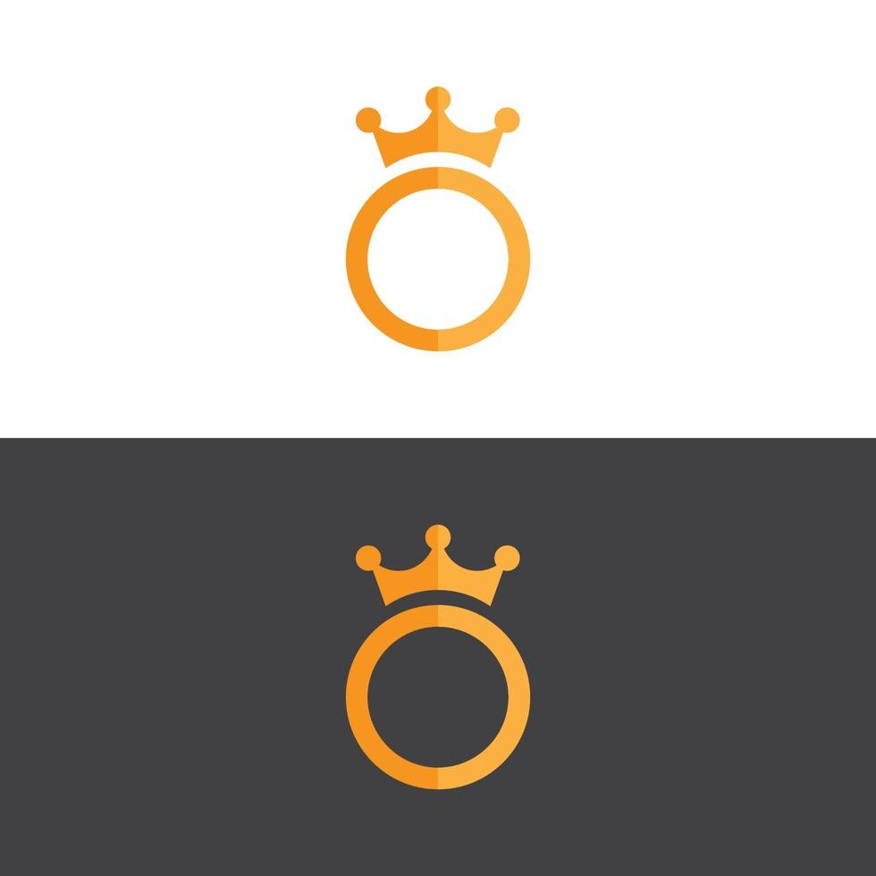 logo de la couronne élégante en image vectorielle or vecteur