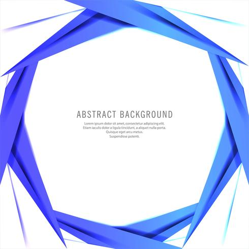 Fond abstrait vague circulaire bleu créatif vecteur