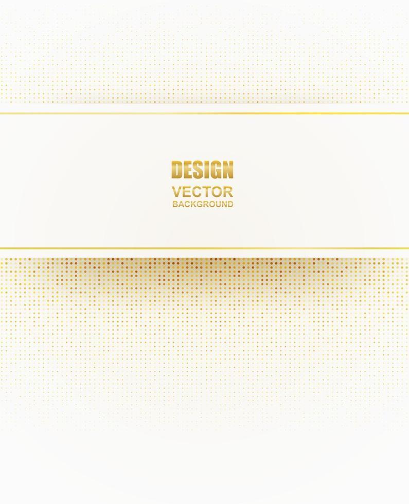 abstrait. fond de forme géométrique en or blanc. lumière et ombre .vector. vecteur