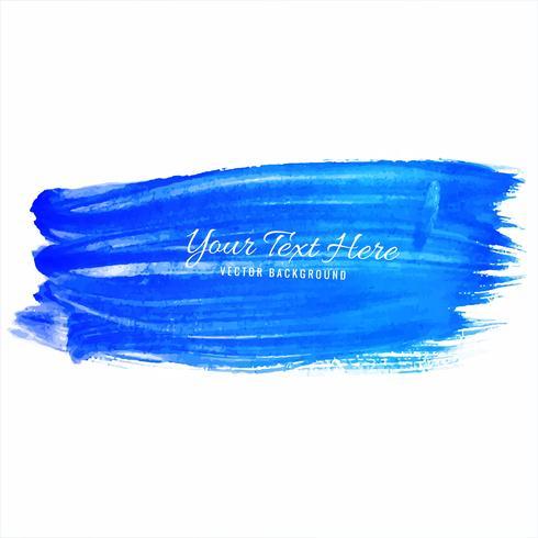 Aquarelle main bleue dessiner des traits de fond vecteur