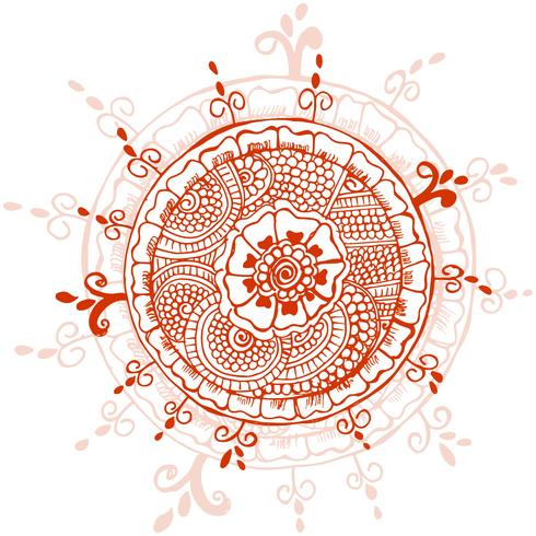 Design mandalal créatif abstrait décoratif vecteur