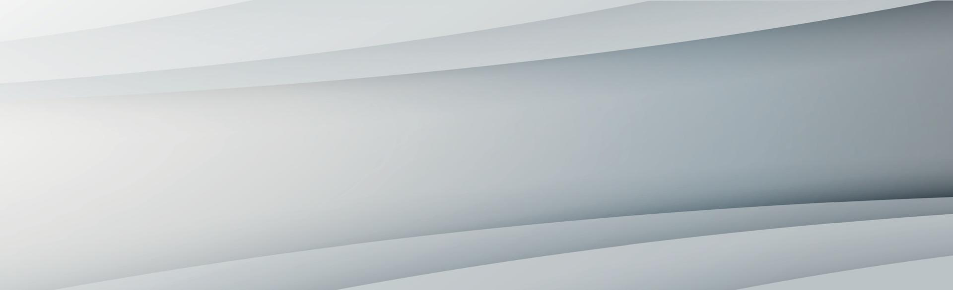 fond panoramique de vecteur blanc avec des lignes ondulées