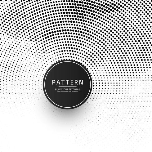 Illustration de fond moderne demi-teinte circulaire vecteur