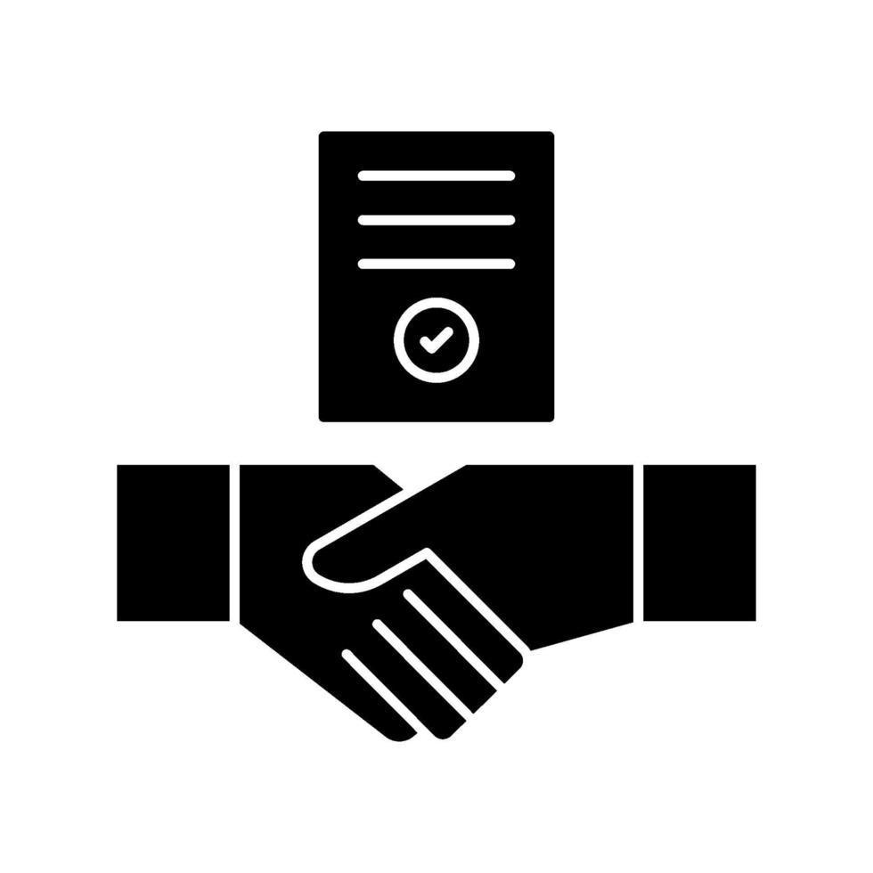 icône de vecteur de contrat