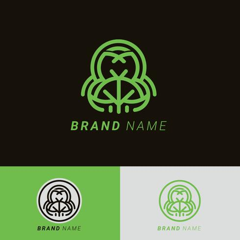 Vecteur d'éléments de logo d'arbre