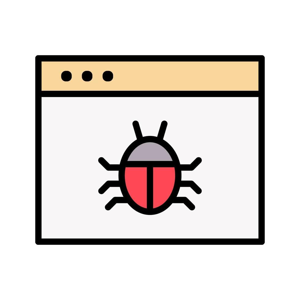 icône de vecteur de malware