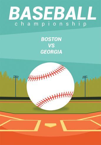 Design vectoriel Flyer baseball