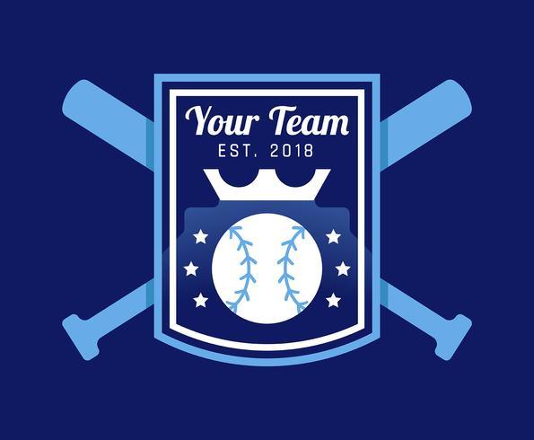 Badge de baseball vecteur