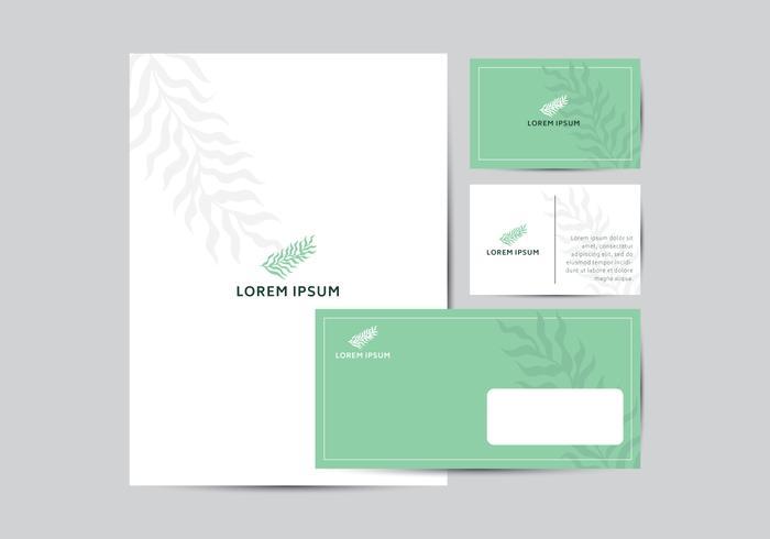 Modèle d'identité de marque Nature Leaf vecteur