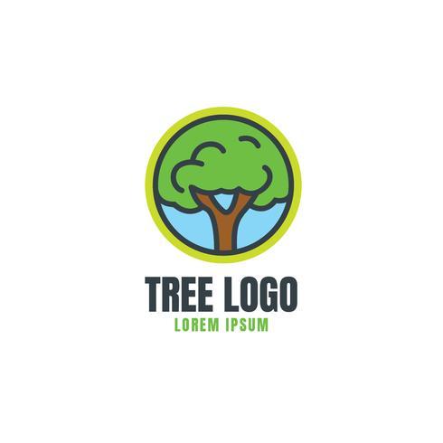 Modèle de logo d'arbre vecteur