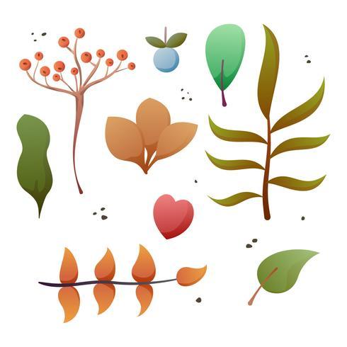 Beau vecteurs d'automne floral aquarelle vecteur
