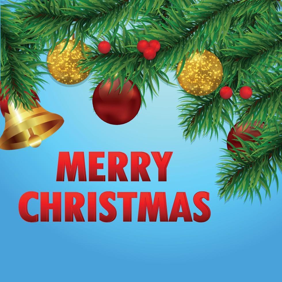 joyeux noël vacances fond avec illustration vectorielle sur fond créatif vecteur